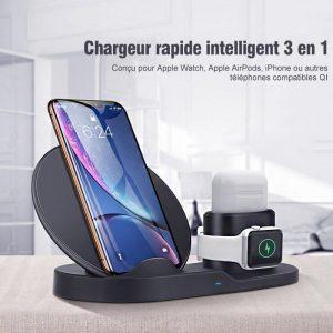 3 en 1 Chargeur Rapide Intelligent Sans Fil