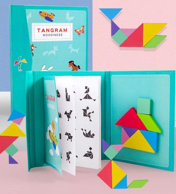 puzzle tangram magnétique