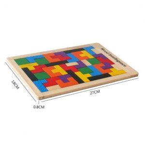 Puzzle Tetris & Tangram Magnétique en Bois
