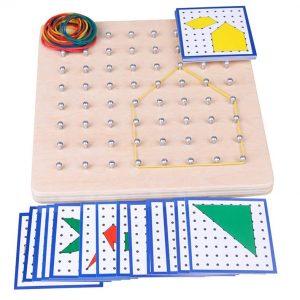 Géoboard Planche de Géométrie à Élastiques (8 par 8)