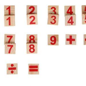 Boîte Arithmétique avec Bâtons en Bois Montessori-1