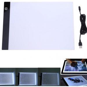 Tablette à dessin lumineuse dimmable 3 niveaux