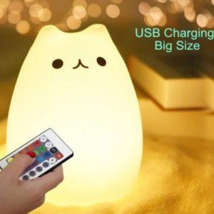 Veilleuse LED En Forme De Chat Pour Bébé