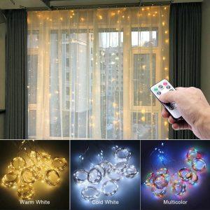 Rideau Lumineux LED Pour Fenêtre