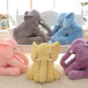 Oreiller en Forme d'Eléphant pour Bébé