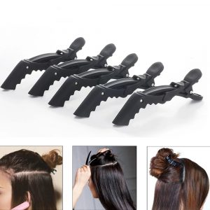 Pinces Cheveux Crocodiles Noires